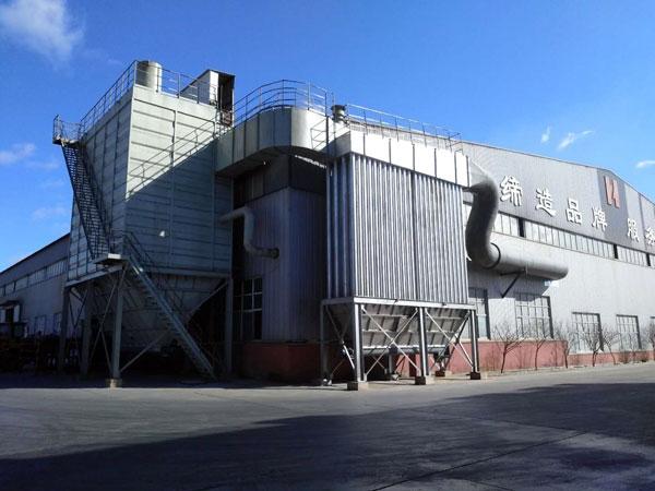 内蒙古汇泽铝业熔铝炉、破碎除尘器